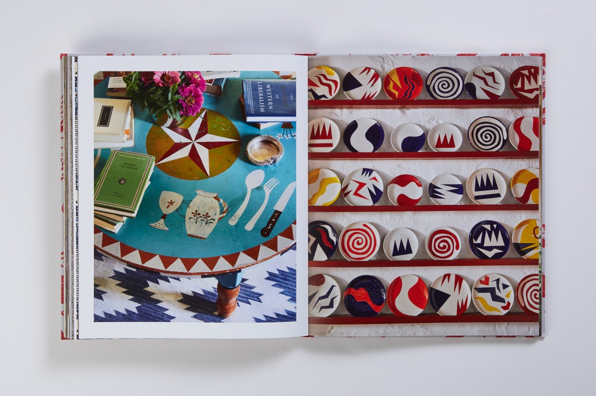 Like her textiles, Lisa's eye for design includes a lot of pattern & happy jumble of color.