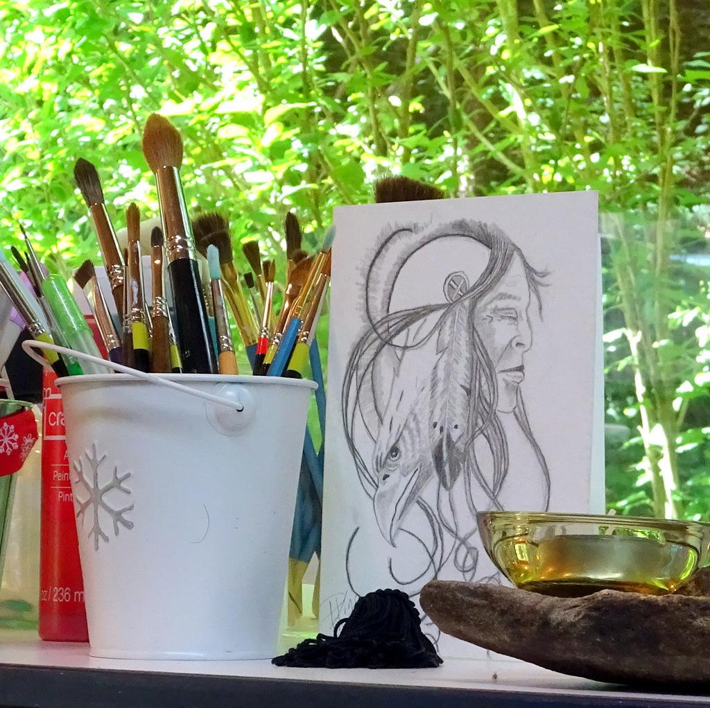 Studio Scene of Painter Peggy King