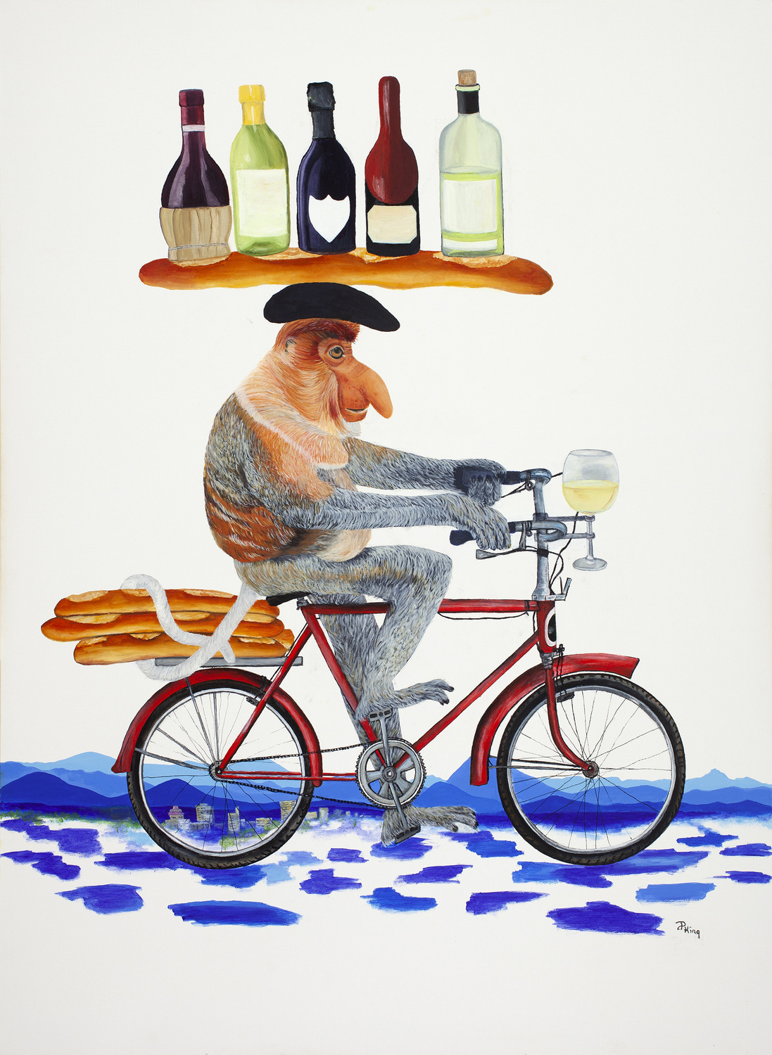 """""""WHERE'S THE PARTY?"""",  Oil on Canvas,  48x36 inches,  $1,250"""