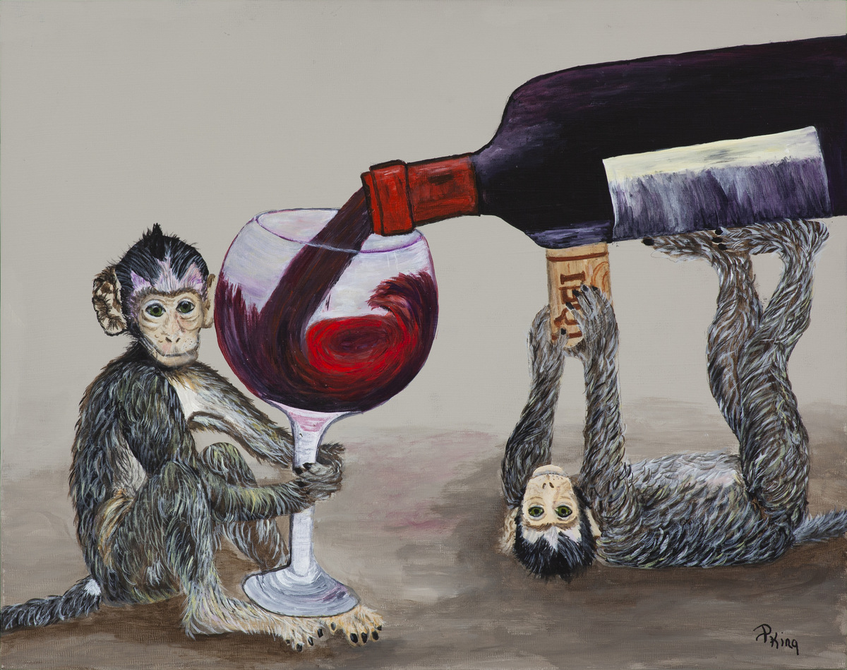 """""""CORK OF A TIME"""",  Giclee Print on Paper,  8x10 inches $55,  11x14 inches  $75"""