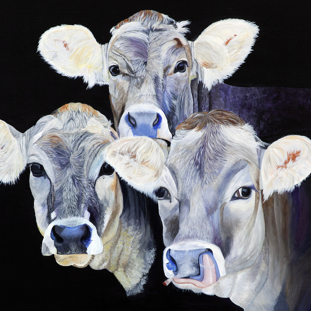 2-COWS - Realist Nature & Wildlife Painting, Peggy King, Asheville, NC-005.JPG