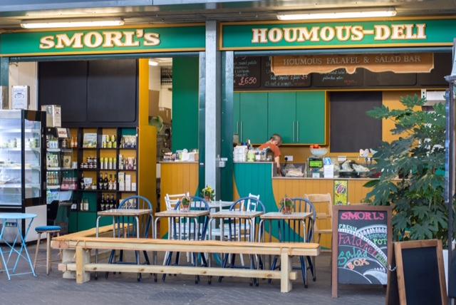 Find Smorl's Cafe at Brighton Open Market.