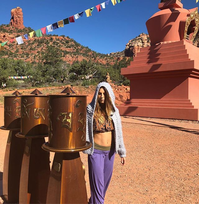 @elemental.movement.arts spinning the prayer wheels sending virtuous energy into the world bringing peace and blessings to everyone