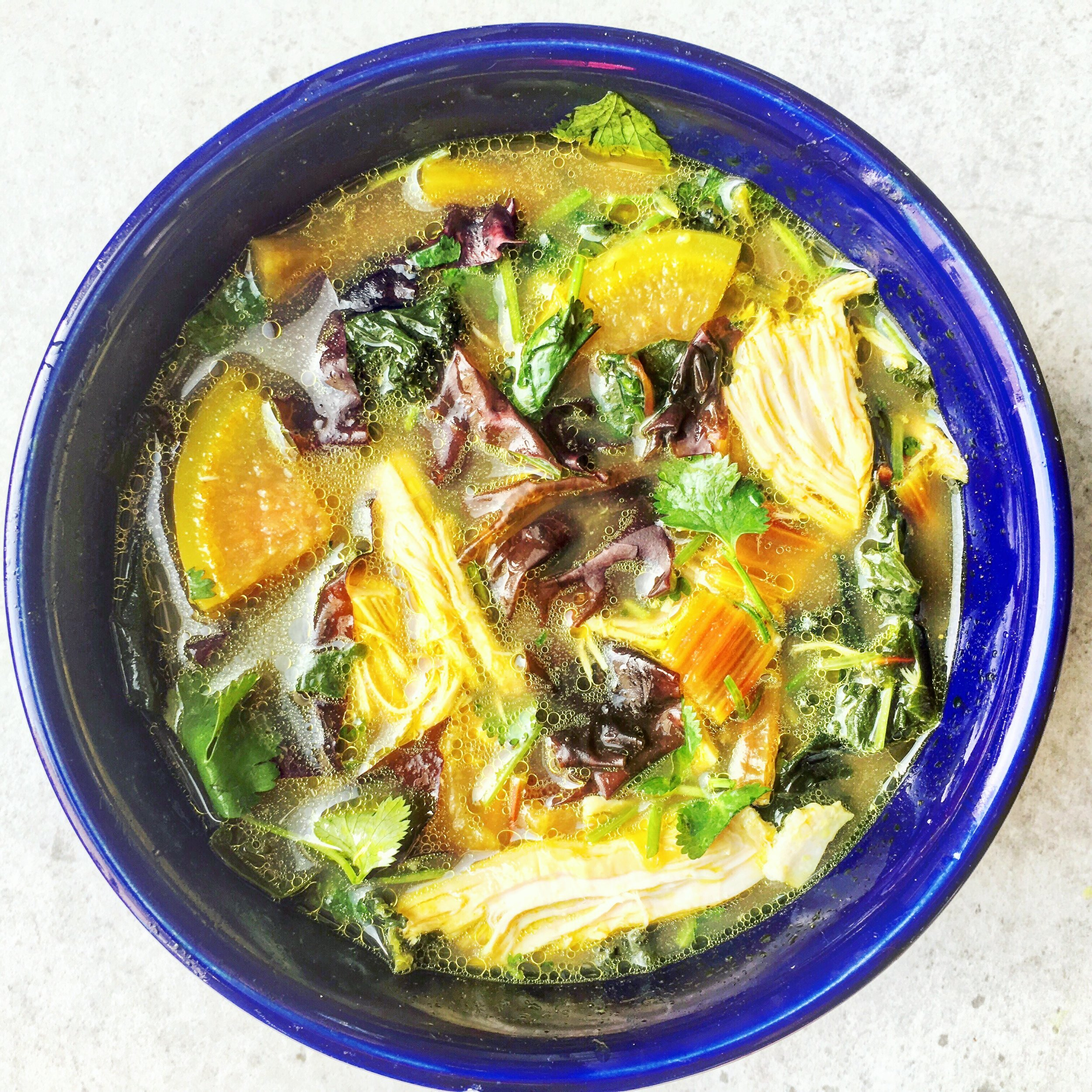 This nourishing recipe is packed with gut healing, anti-inflammatory ingredients that stimulate digestion and support all aspects of health. It's high mineral content and detoxifying nutrients boost it's healing potential. There are unlimited combinations of spices and vegetables that can be used to customize the recipe