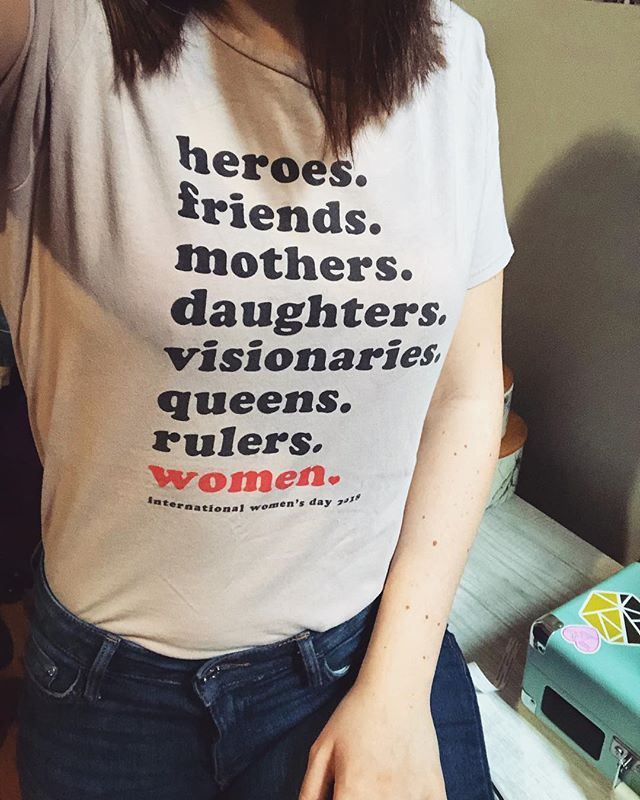 Shoutout to all my women out there. Keep on being the brave, powerful, beautiful souls you are!!💪🏻💁🏻♀️ #InternationalWomensDay