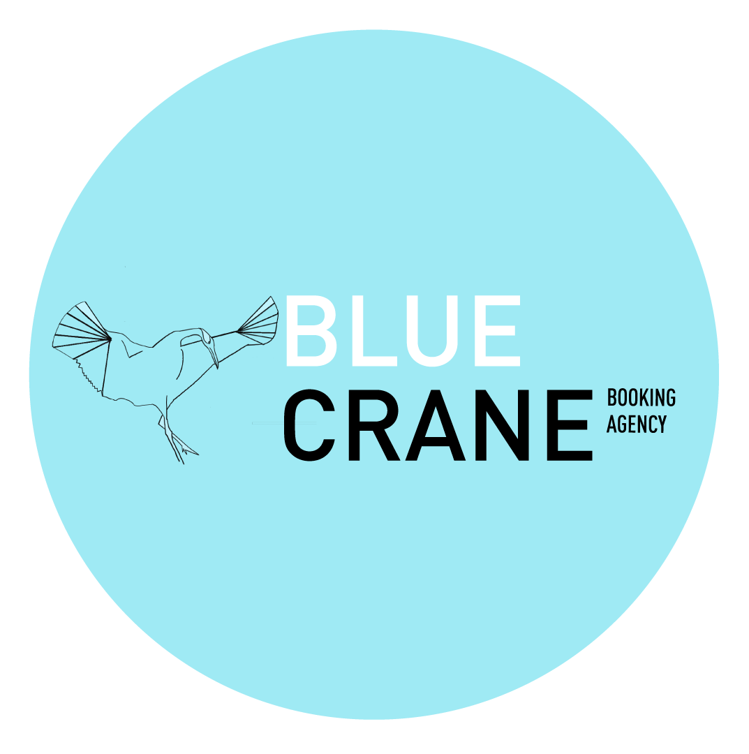 Blue Crane  is a global independent booking agency seeking to prioritize women and artists of color in North America and abroad.