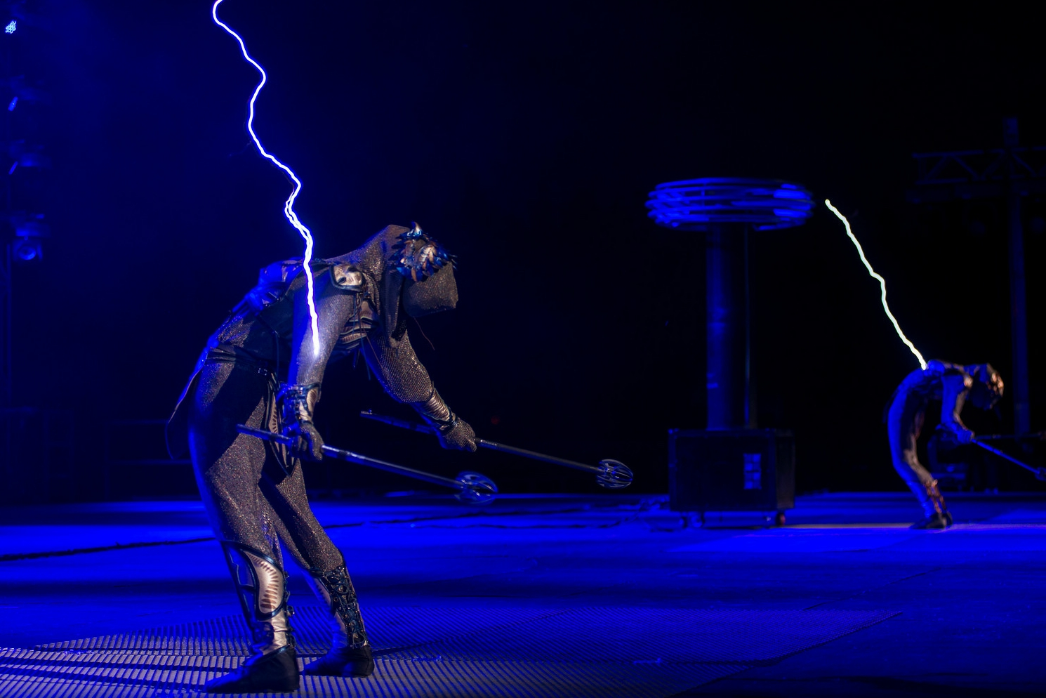 Tesla Coil Show SkyFire Arts Thunderstorm