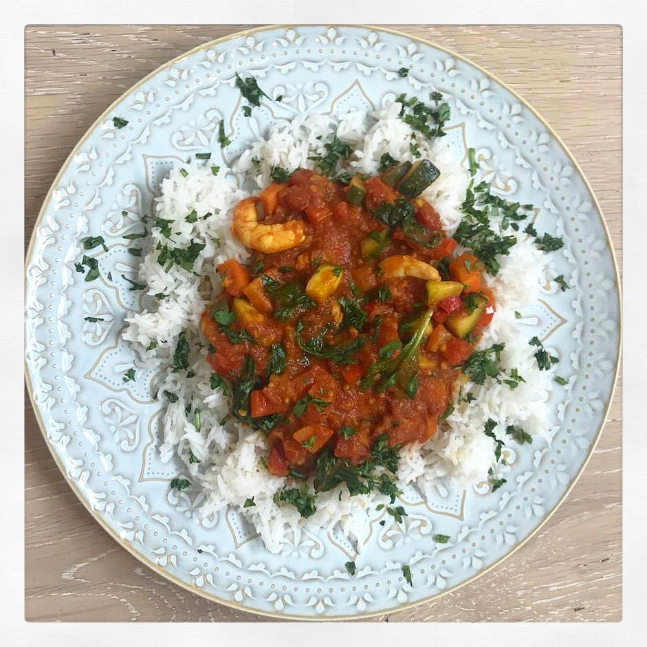 Punchy Prawn Curry -