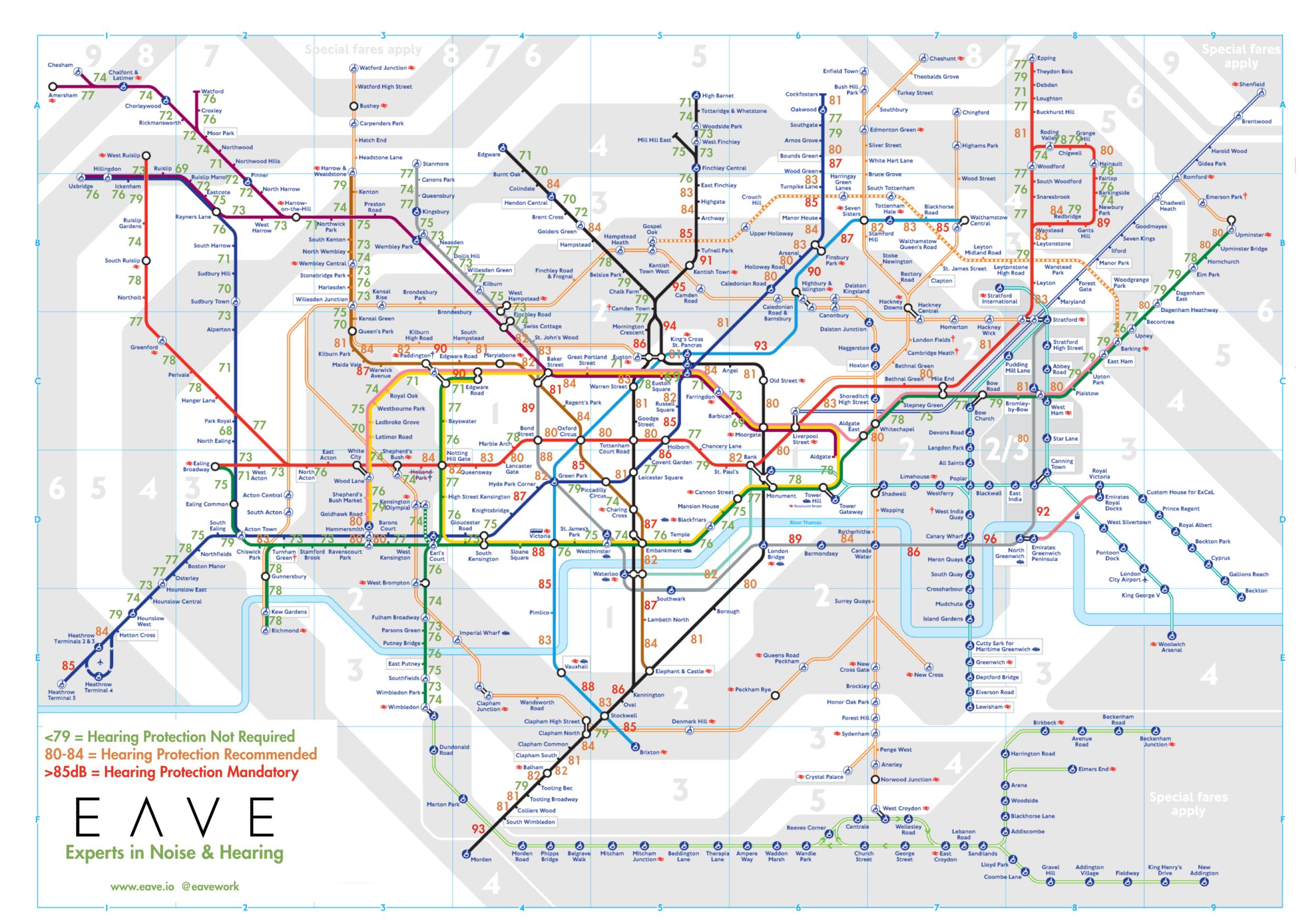 EAVE  Tube Map Data