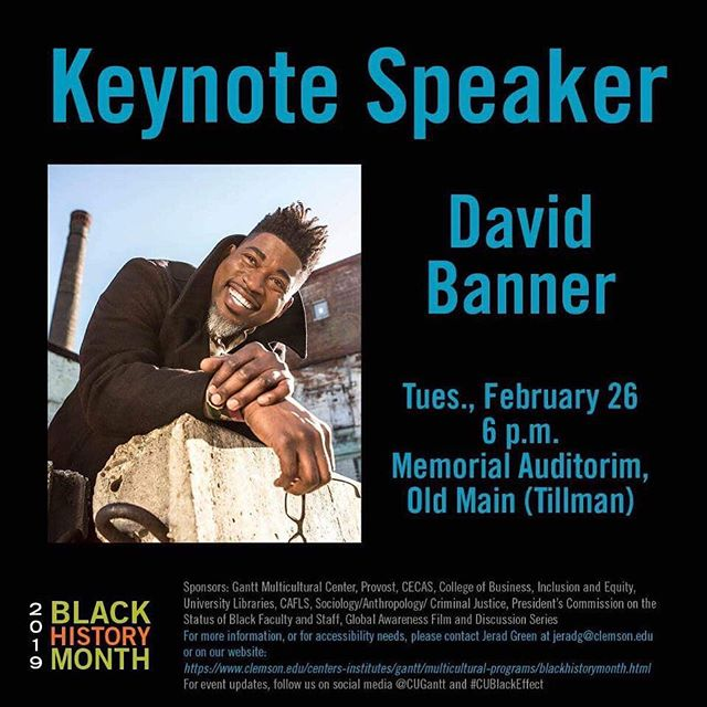 Come out and see @davidbannerlikespictures speak tonight at 6pm in Old Main! #cublackeffect
