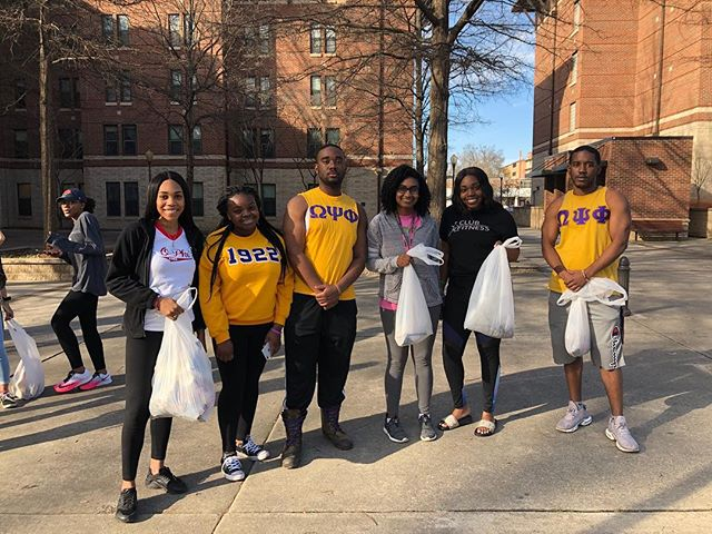 NPHC had a great time participating in the second annual Adopt-A-Campus service project!