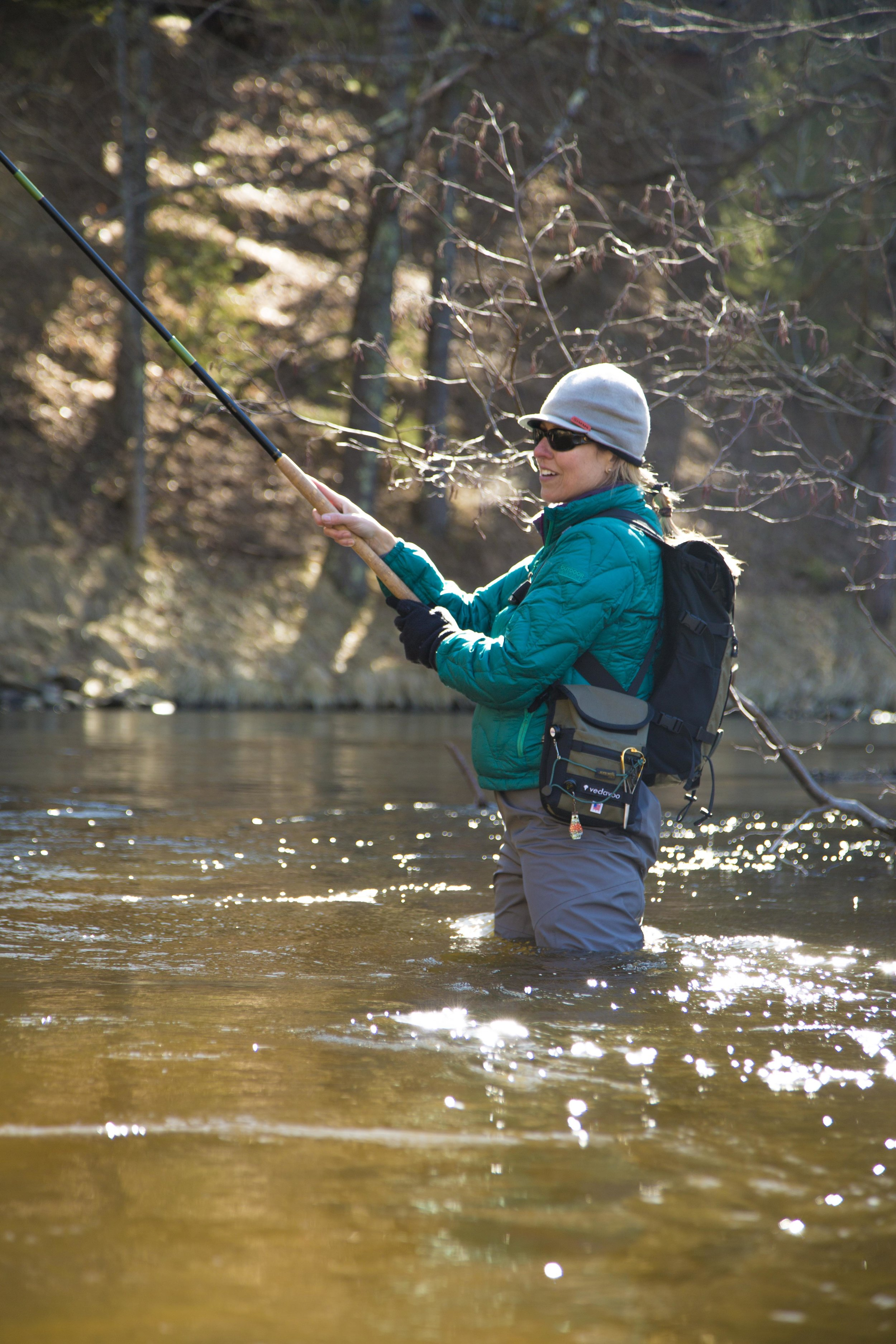 Fishing Tenkara rods for Steelhead in my home river: The Perf Marquette.