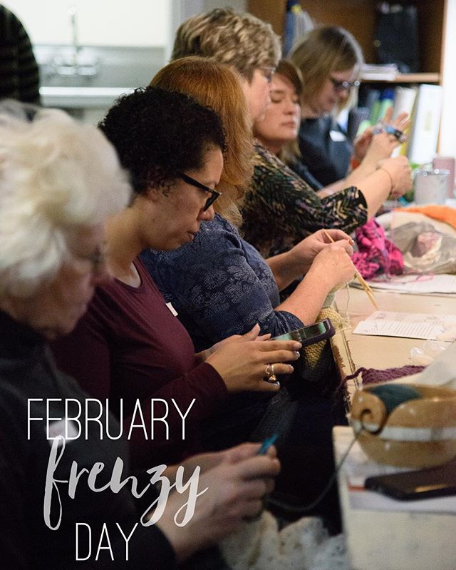 Come one come all to knit in our shop! Thank you to all who signed up for the #februaryfrenzyday here at Reverie! • Interested in being part of our many fun events at the shop? Check out website to sign up, come in and visit us in person, or call us!  #yarn #smallbusiness #goshen #knitting #goshenknitters