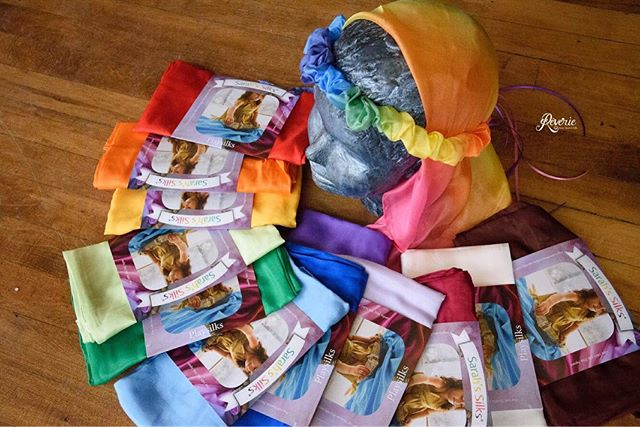 🌈 NEW ✨Now introducing Sarah's Silks to our shop! Created to encourage mindful and imaginative play, these silks have been flying off our shelves! Not only do they feel lovely, they encourage creativity in child's play!  #sarahssilks #silks #kidstoys #smallbusiness #goshenindiana #goshen #headbands #scarves #blankets