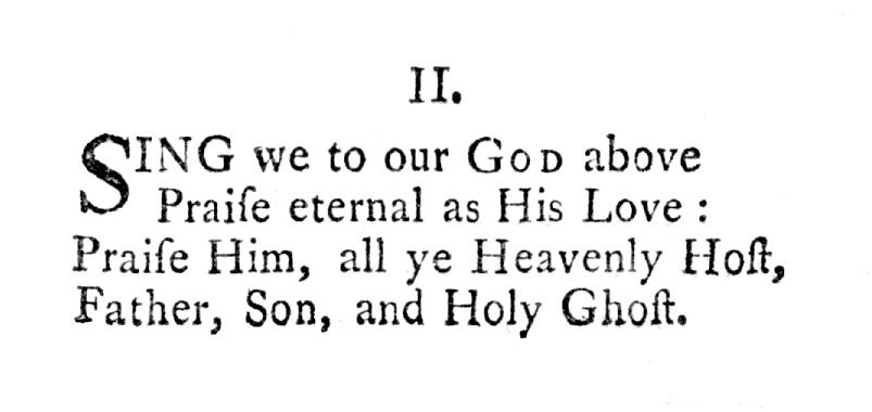 Fig. 6.  Charles Wesley,  Gloria Patri  (1746).