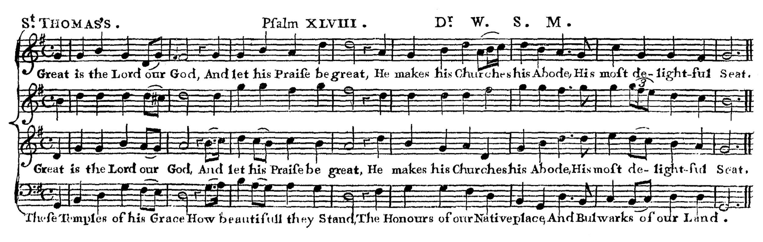 Fig. 6.  Aaron Williams,  New Universal Psalmodist , 6th ed. (ca. 1775).