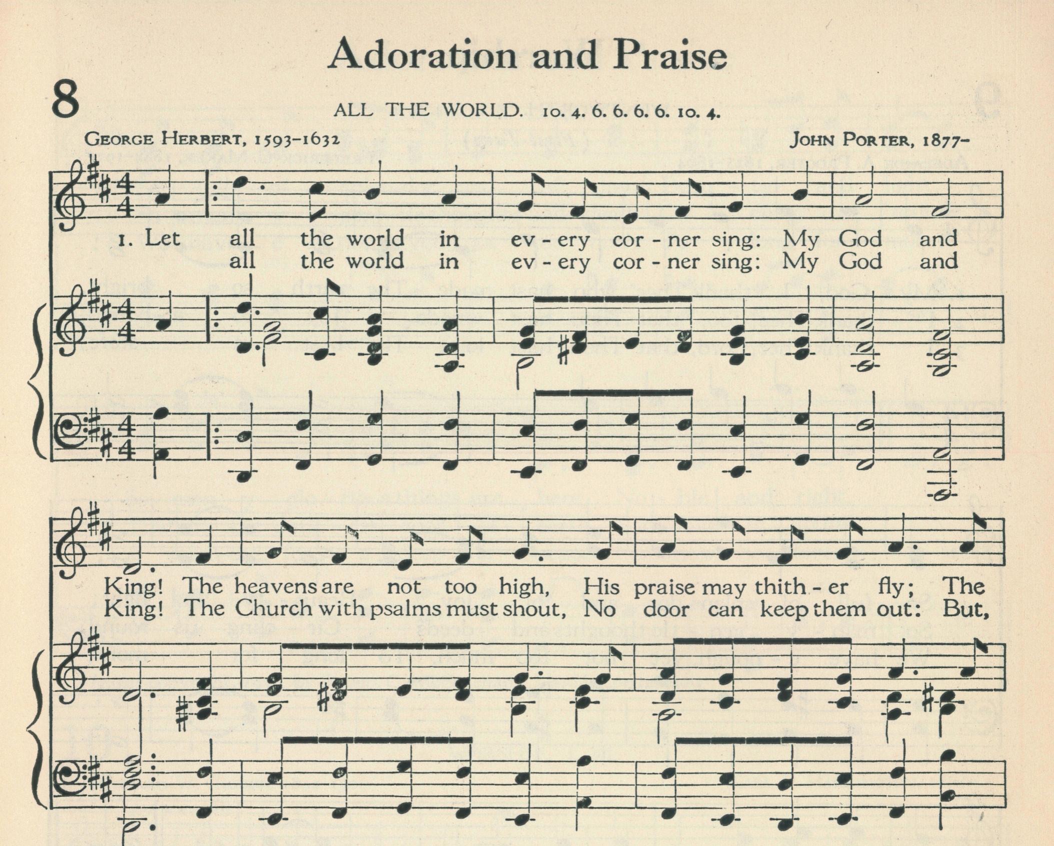 Fig. 4.   The Methodist Hymnal  (Nashville: Methodist Episcopal Church South, 1935), excerpt. ©1962 Abingdon Press.