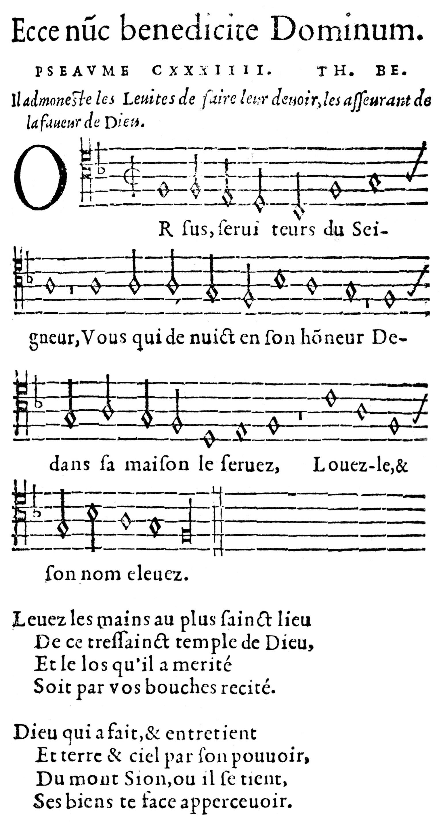 Fig. 3.   Pseavmes octantetrois de Dauid  (Geneva, 1551).