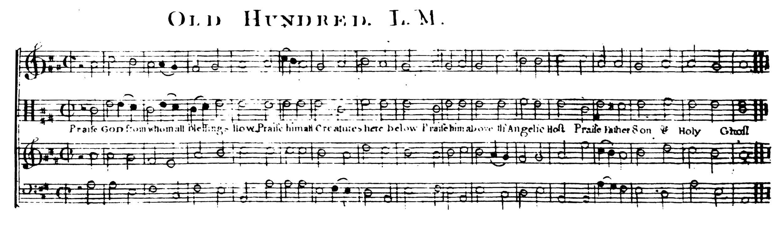 Fig. 12.   The Federal Harmony , Part 2 (Boston: John Norman, 1790). Melody in the tenor part.