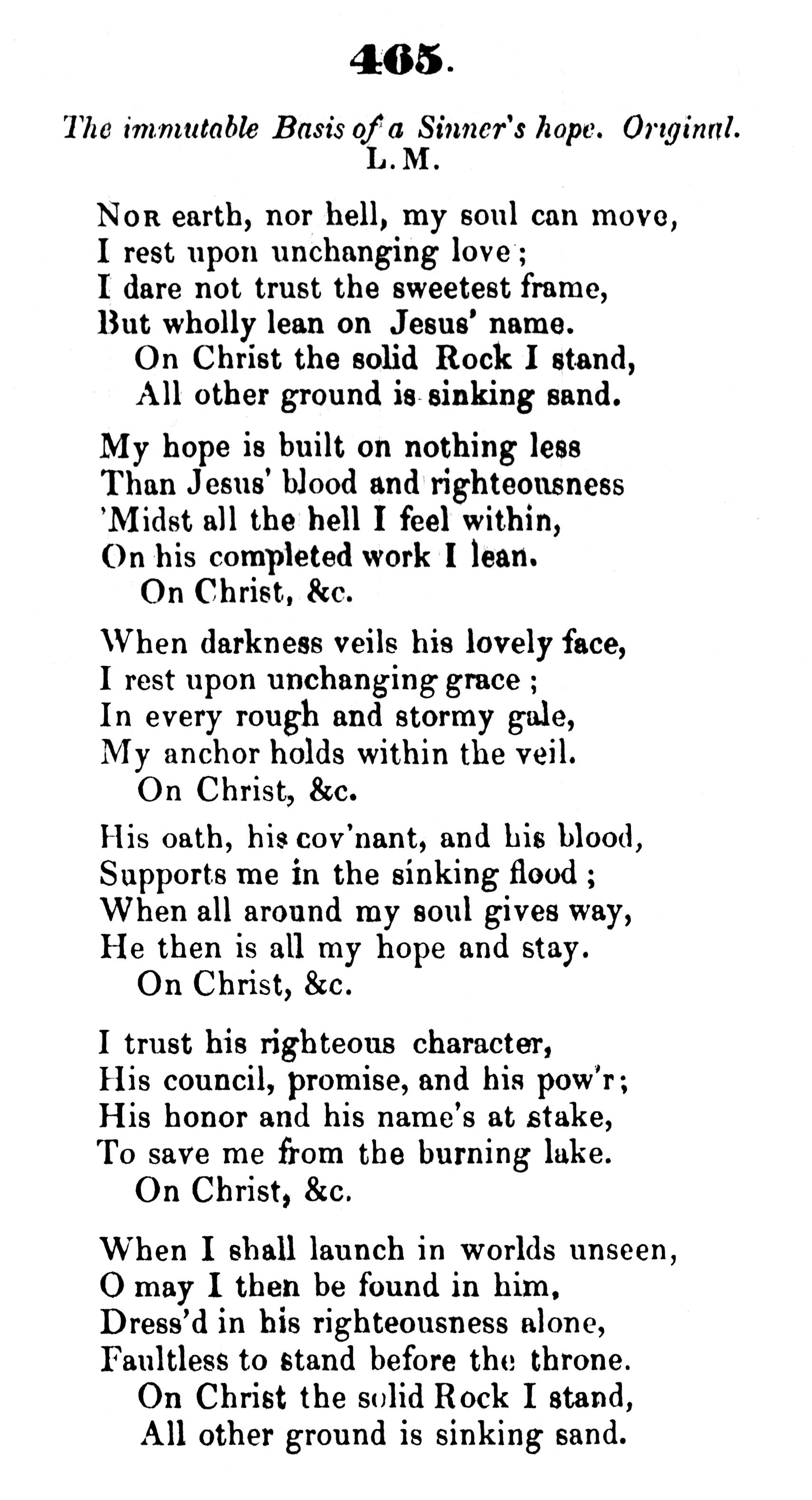 Fig. 3.  Edward Mote,  Hymns of Praise  (London, 1836).