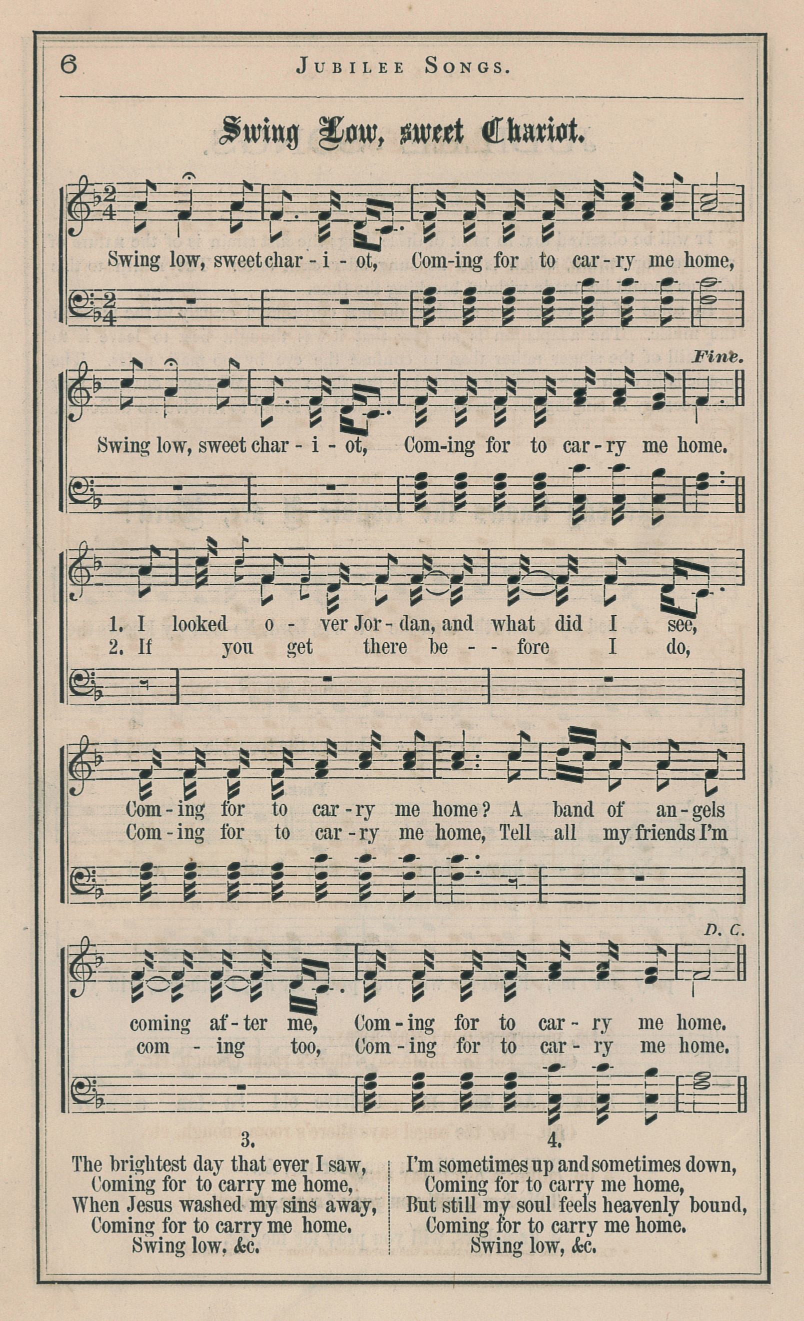 Fig. 1.   Jubilee Songs as Sung by the Jubilee Singers of Fisk University  (NY: Biglow & Main, 1872).