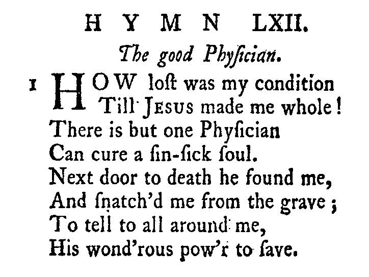 Fig. 1.   Olney Hymns  (1779).