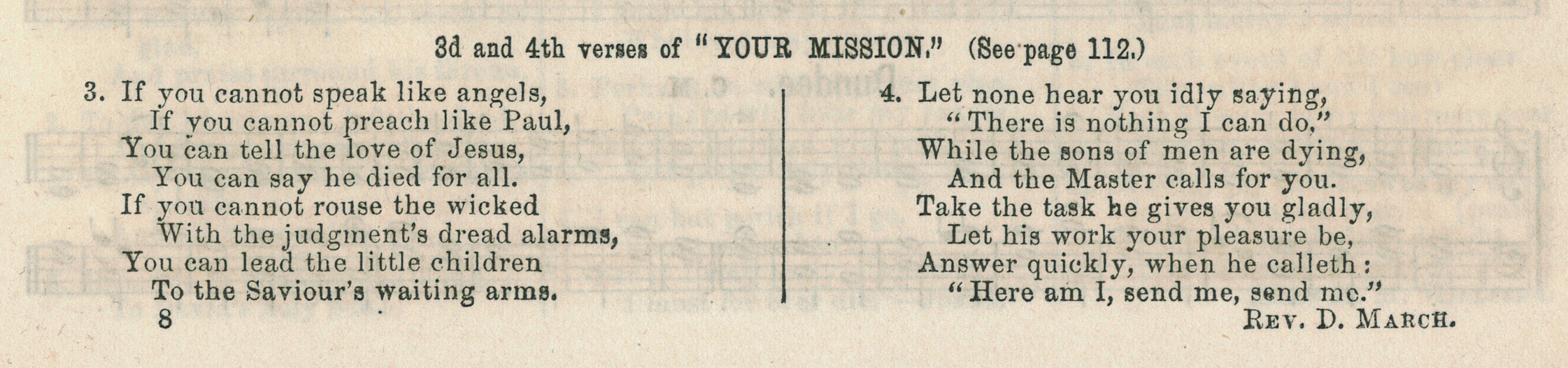 Fig. 4.  J.E. Gould,  Songs of Gladness for the Sabbath School  (Philadelphia, 1869).