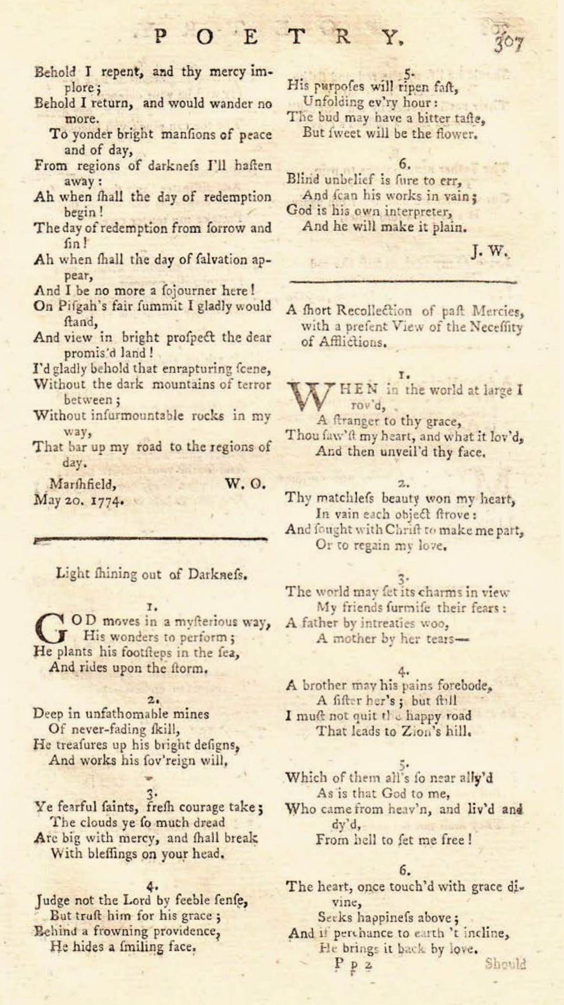 Fig. 2.   The Gospel Magazine  (July 1774).