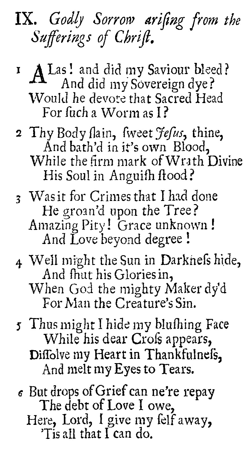 Fig. 1.   Hymns and Sacred Poems  (1707)