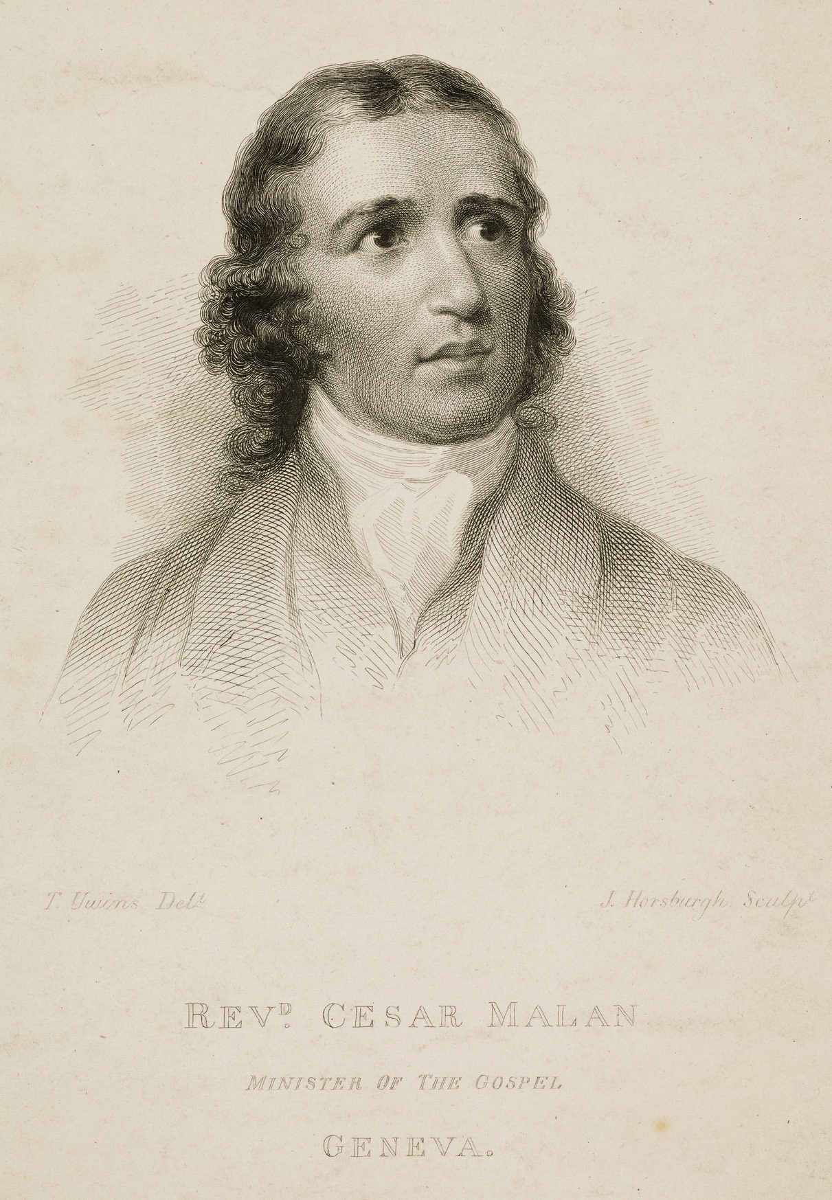 H.A. César Malan,  engraving by J. Horsburgh, after a portrait by Thomas Unwins,  National Galleries Scotland