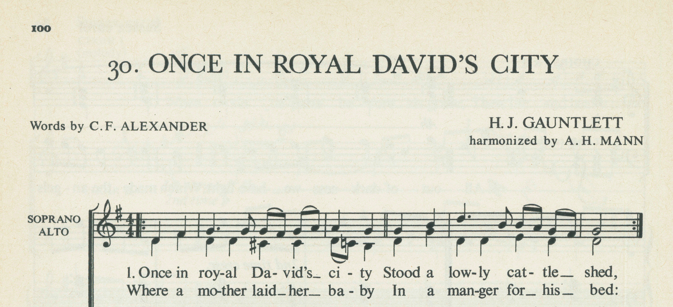 Fig. 5.   Carols for Choirs  (Oxford: University Press, ©1961), excerpt.