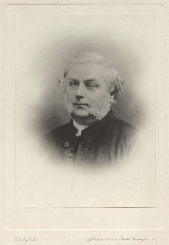 Henry J. Gauntlett,  photograph by Clarence Edmund Fry & Son (1870s).  National Portrait Gallery.