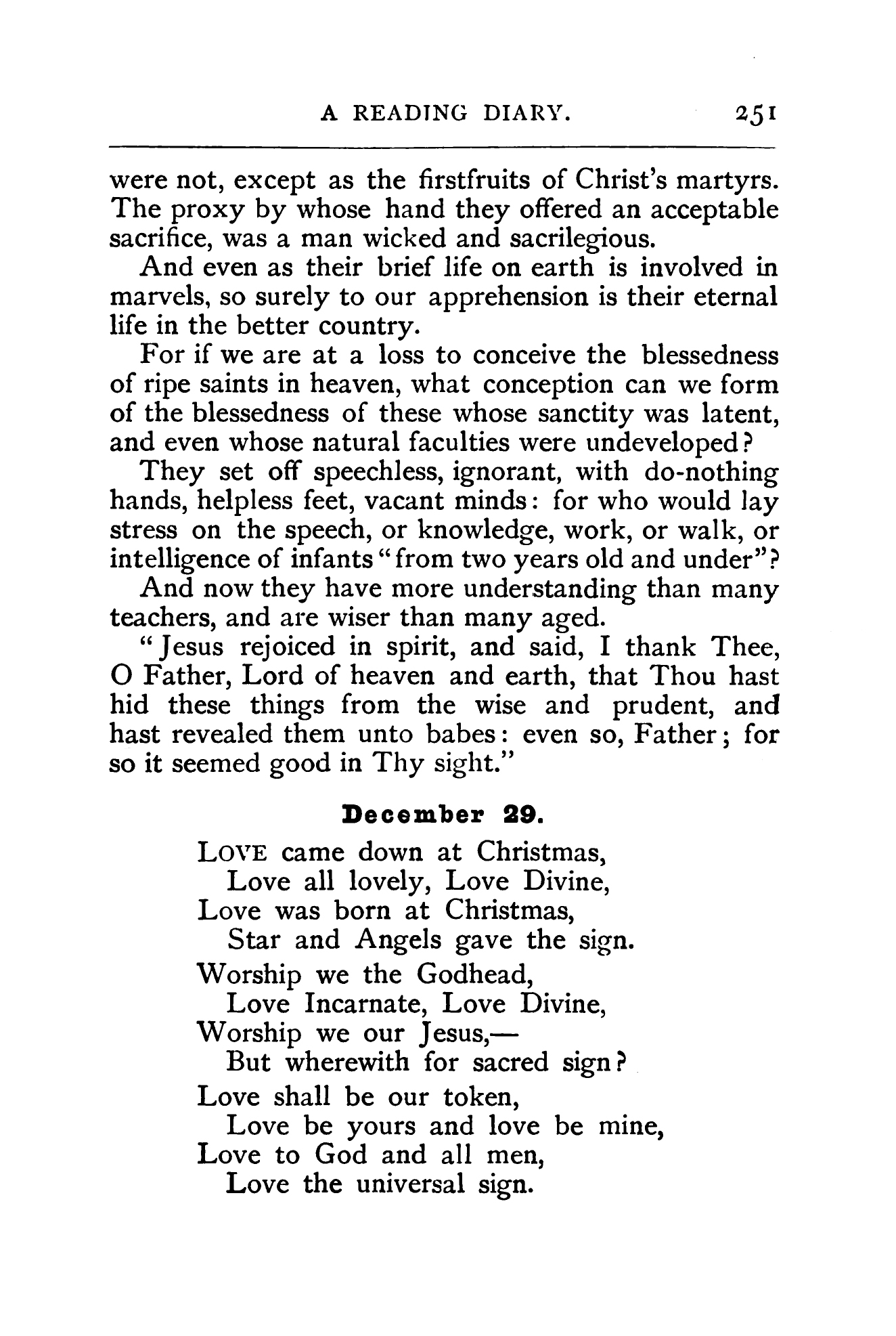 Fig. 1.  Christina Rossetti,  Time Flies: A Reading Diary  (London: SPCK, 1885).