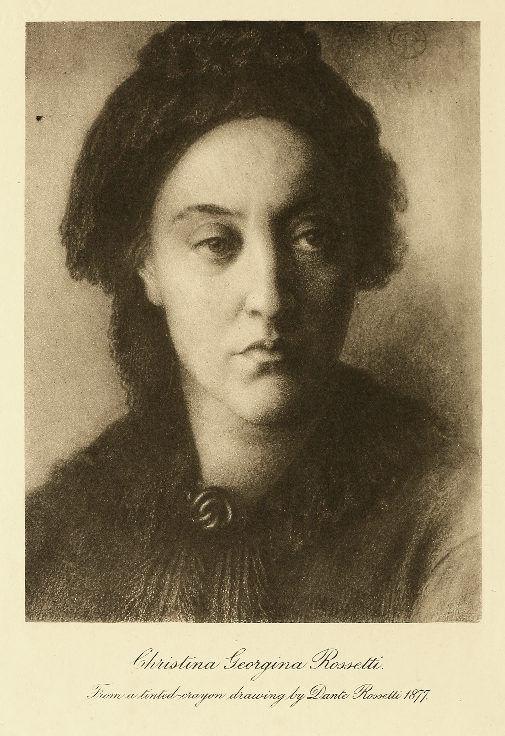 Christina Rossetti , in William Michael Rossetti,  The Family Letters of Christina Georgina Rossetti  (London: Brown, Langham & Co., 1908).