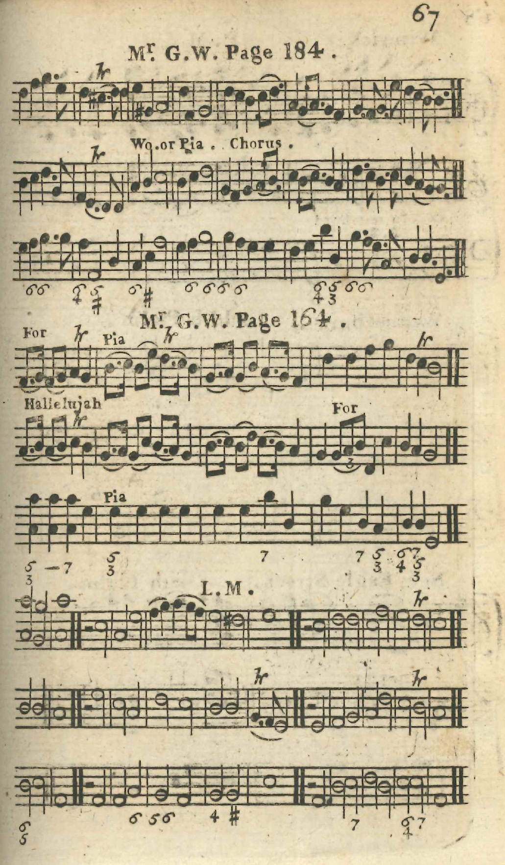 Fig. 5.  Thomas Knibb,  The Psalm Singers Help: Being a Collection of Tunes in Three Parts  (London, ca. 1765). Melody is in the middle part.