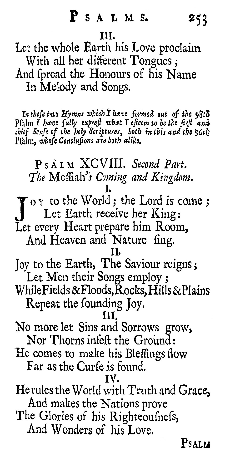 Fig. 1.  Isaac Watts,  Psalms of David Imitated in the Language of the New Testament  (1719).