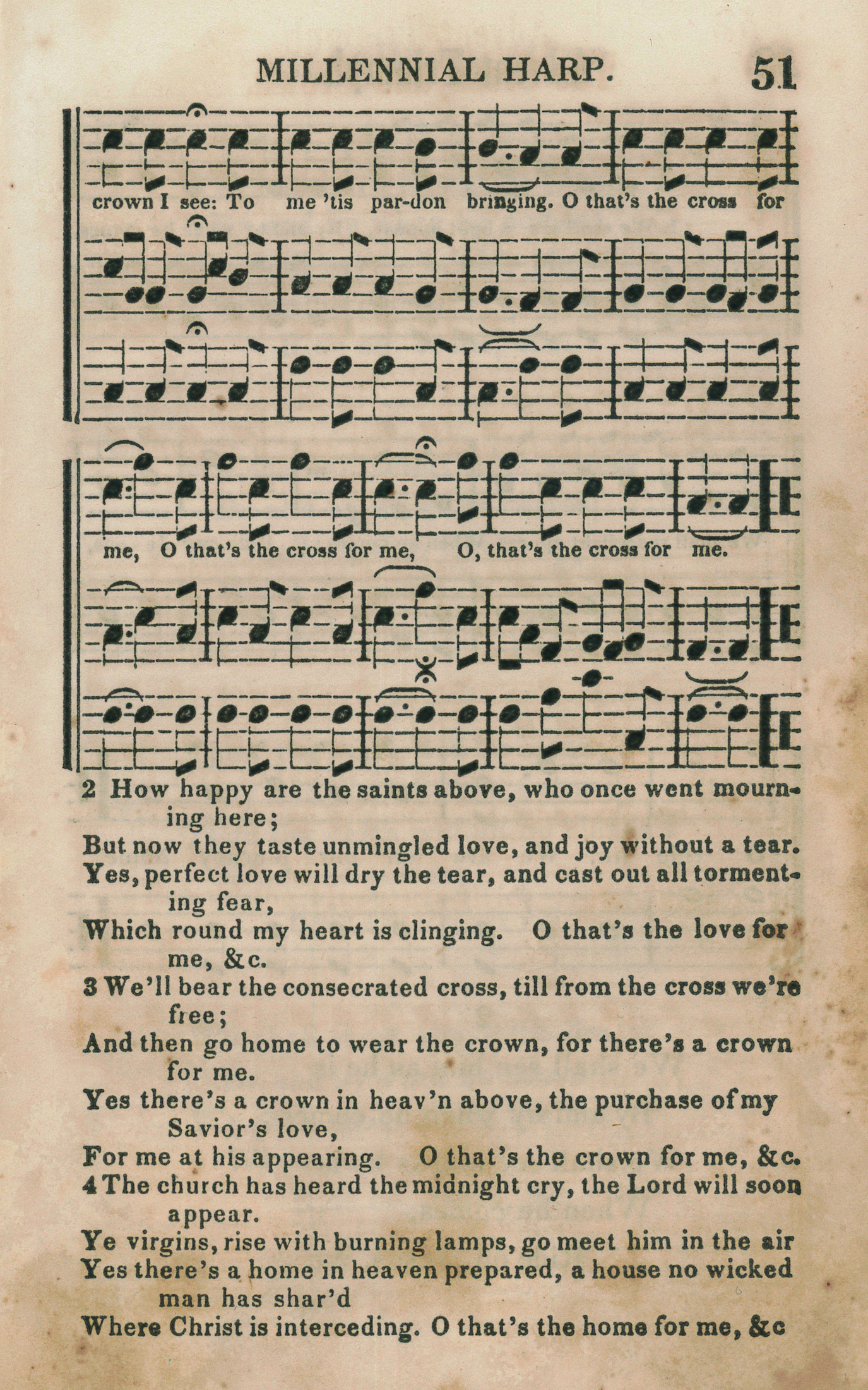 Fig. 5.  Joshua V. Hines,  Millennial Harp and Advent Melodies  (Boston, 1843).