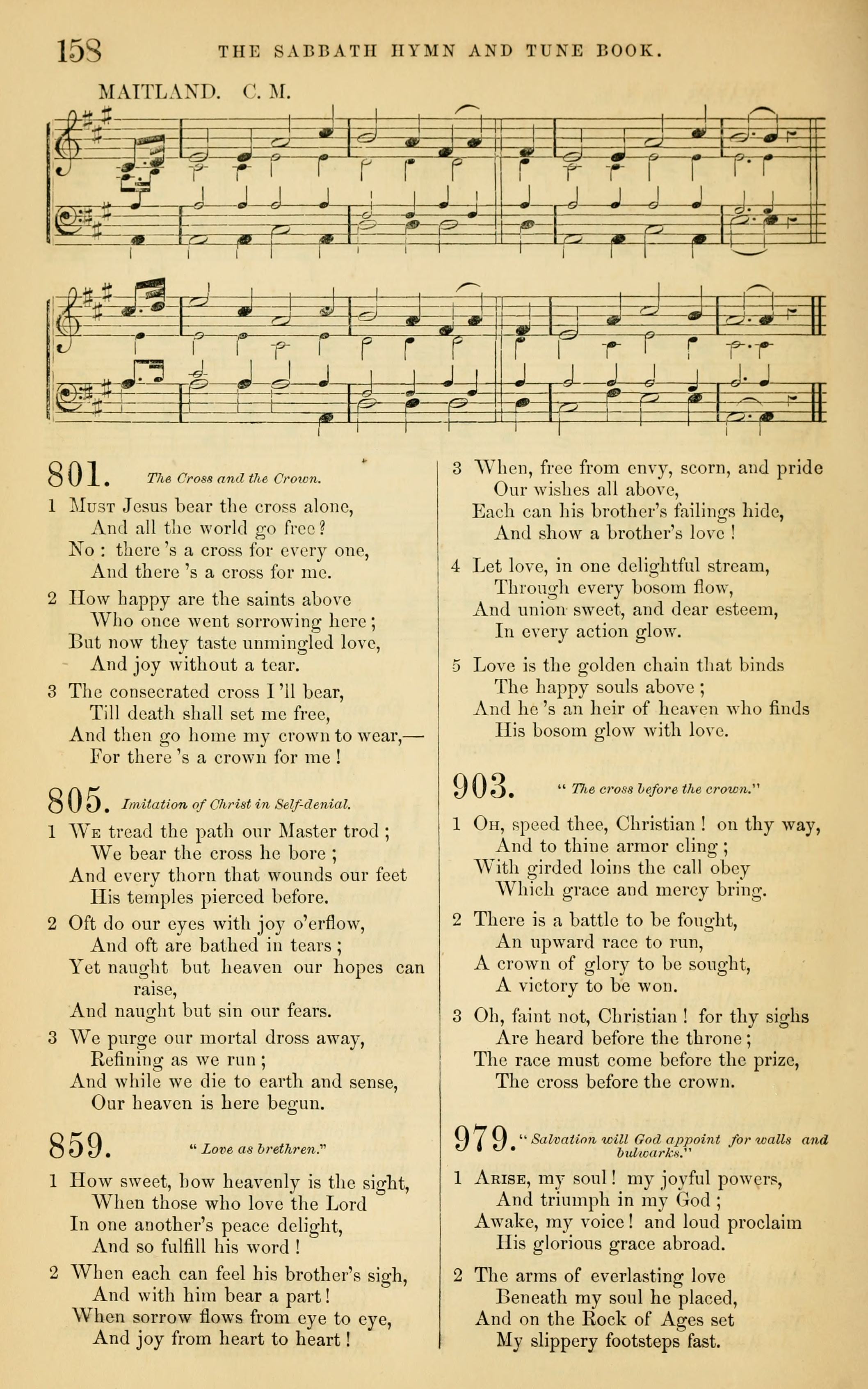 Fig. 4.   The Sabbath Hymn and Tune Book  (NY: Mason Brothers, 1859).