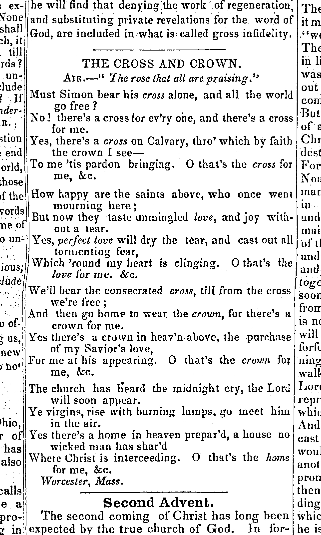 Fig. 4.   Signs of the Times and Expositor of Prophecy , vol. 5, no. 12 (24 May 1843, p. 91.