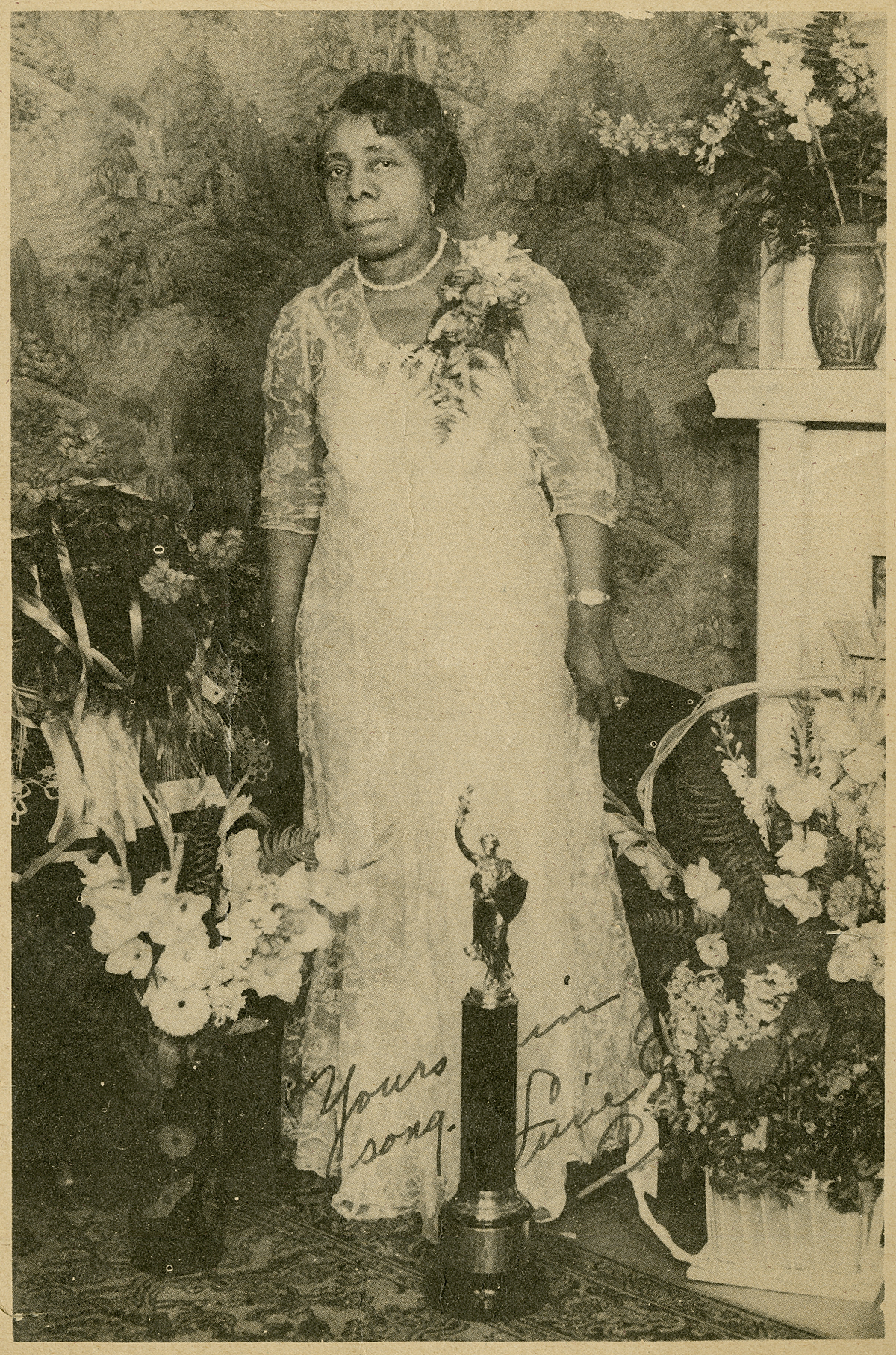 Lucie E. Campbell,  in  Soul-Stirring Songs for All Religious Occasions  (1947), signed. Image courtesy of the Archives of African American Music and Culture, Indiana University.