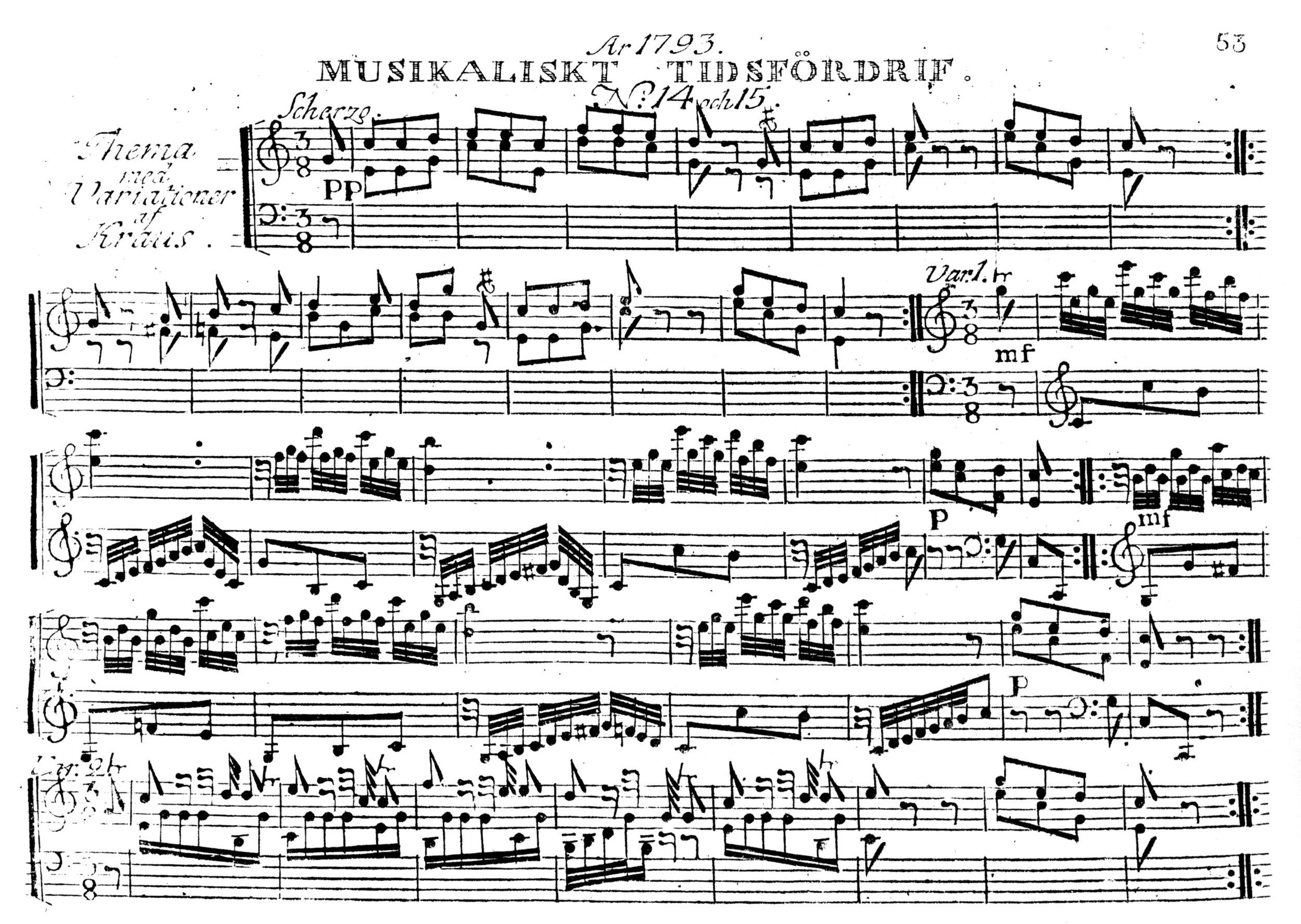 Fig. 5.   Musikaliskt Tidsfördrif,  no. 14-15 (1793), reprinted in  The Hymn , vol. 58, no. 2 (Spring 2007), p. 30.