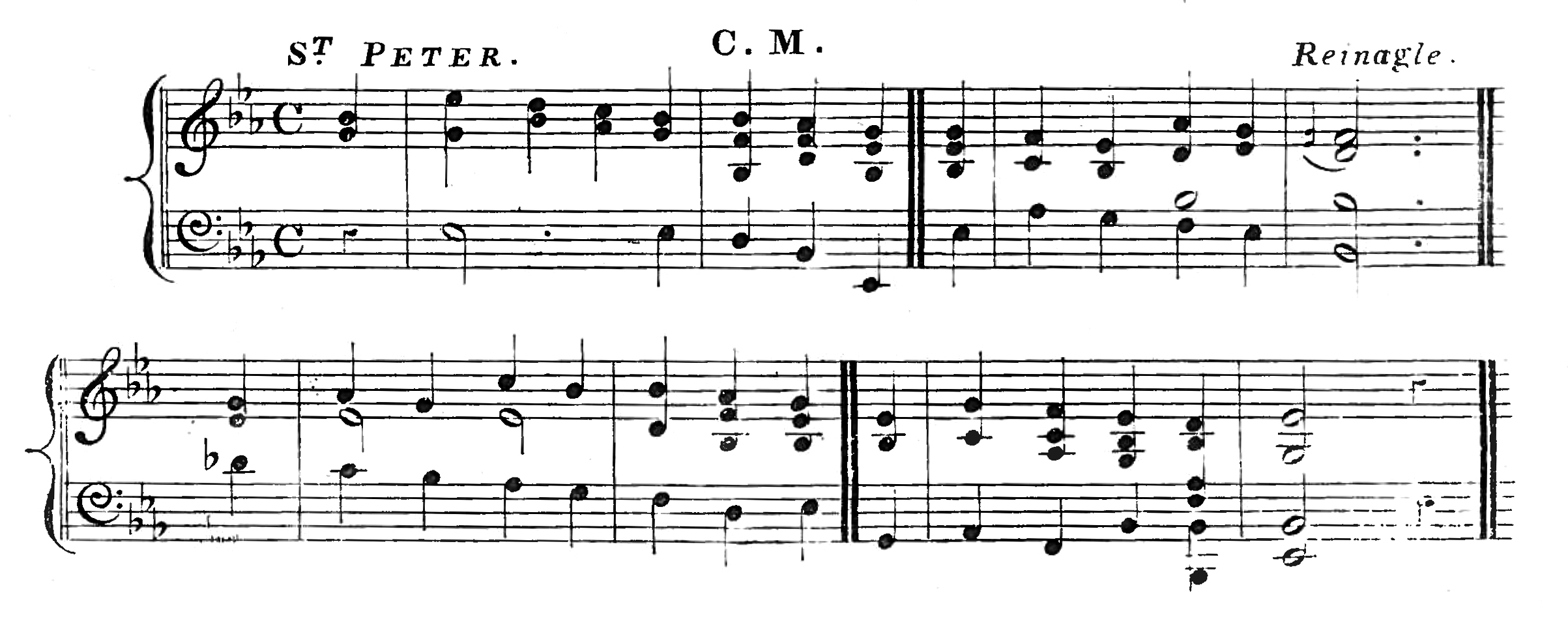 Fig. 3.  A.R. Reinagle,  Collection of Psalm and Hymn Tunes, Chants, and Other Music  (London: T. Holloway, ca. 1840).