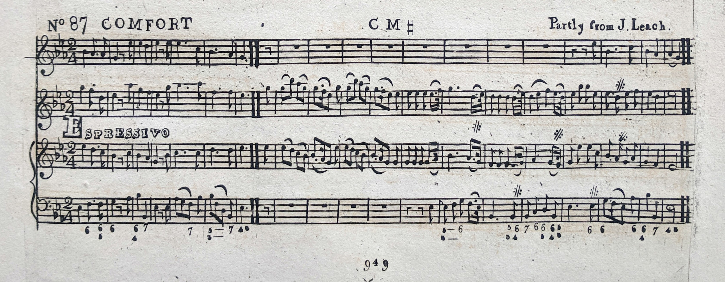 Fig. 2.  Charles Rider,  Psalmodia Britannica , vol. 4 (ca. 1831), no. 87, p. 949. Melody in the third voice.