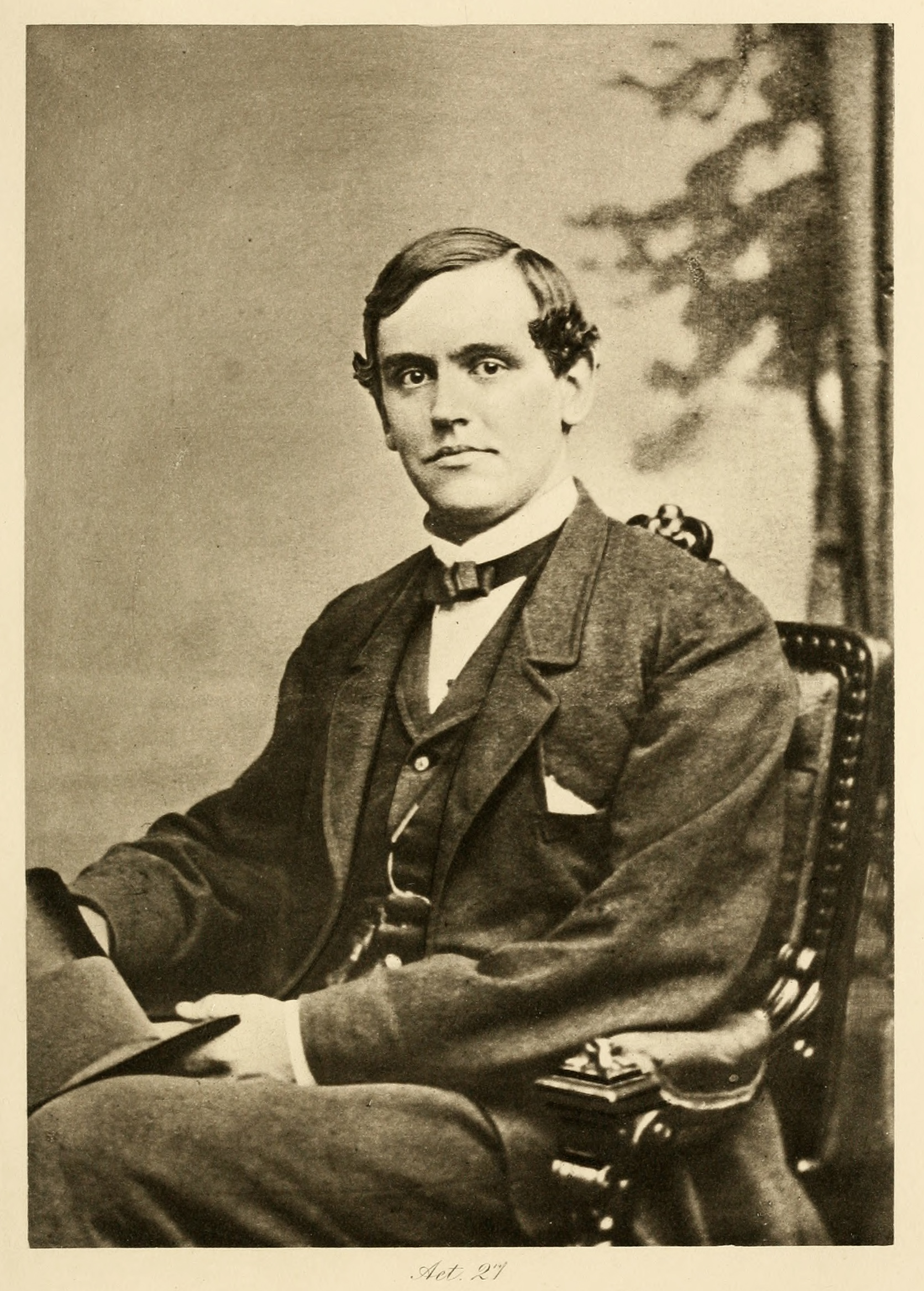 Phillips Brooks , age 27 (ca. 1862-63), photo by J.W. Black, in  Life and Letters of Phillips Brooks , vol. 1 (NY: E.P. Dutton, 1900).