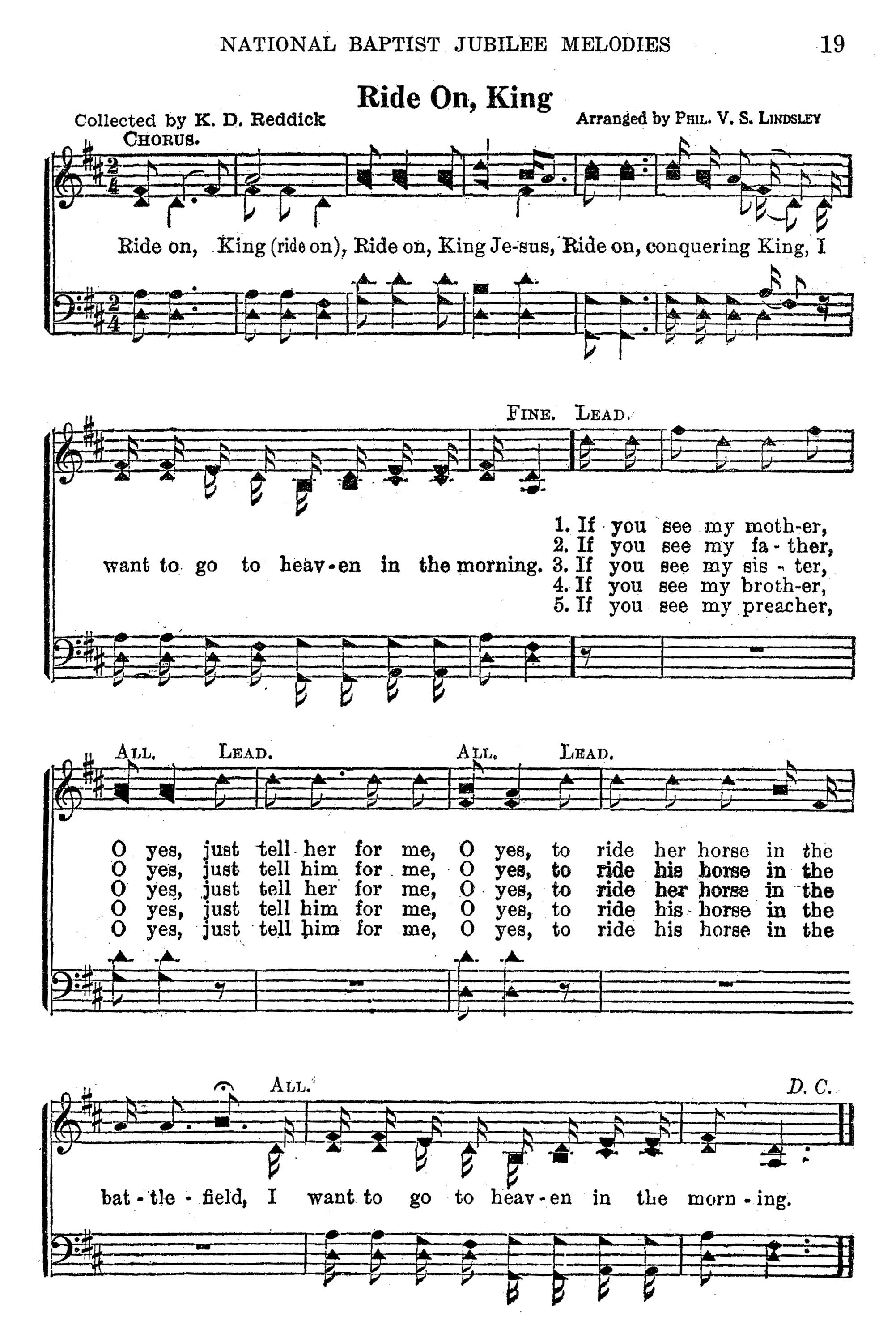 Fig. 3.   National Jubilee Melodies  (Nashville: National Baptist Publishing Board, 1916).