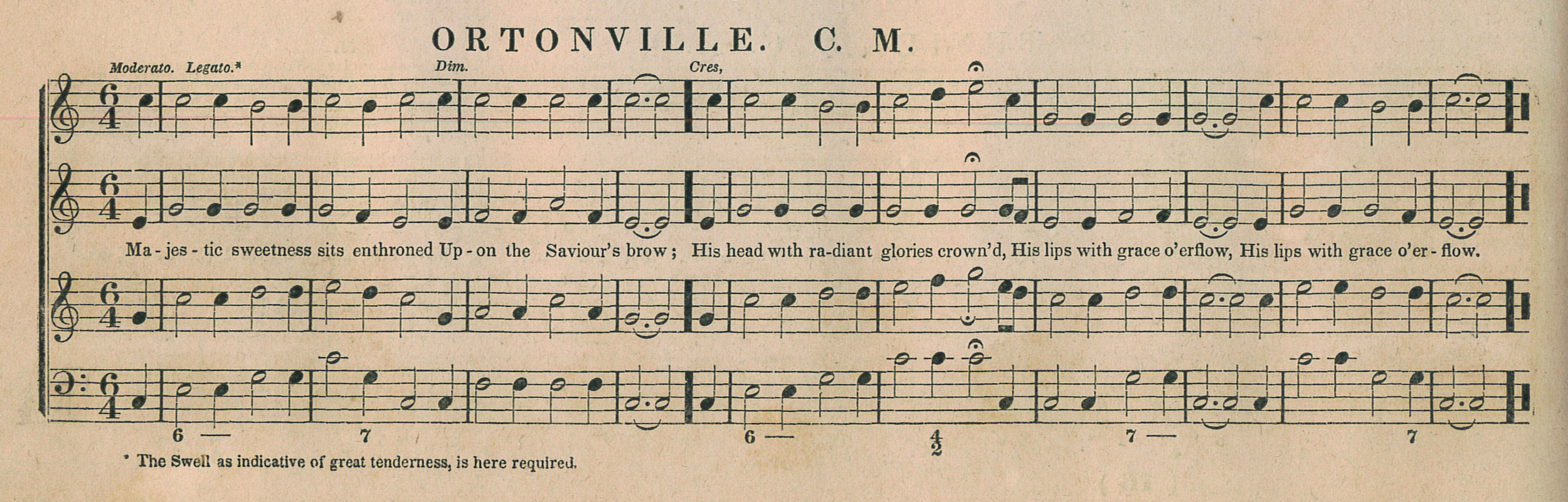 Fig. 3.   The Manhattan Collection  (NY: Ezra Collier & Co., 1837). Melody in the tenor part.