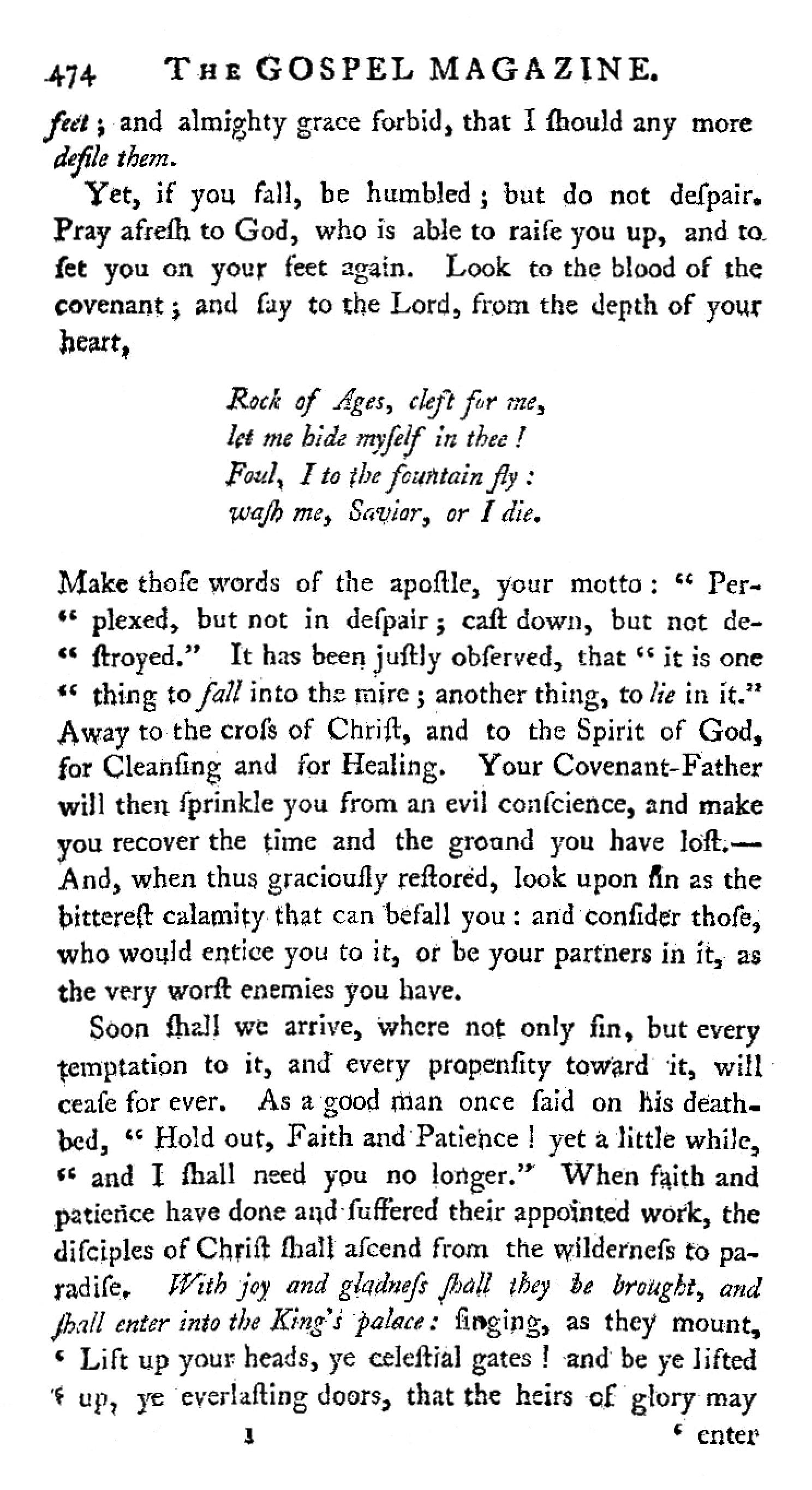 Fig. 1.   The Gospel Magazine  (October 1775).