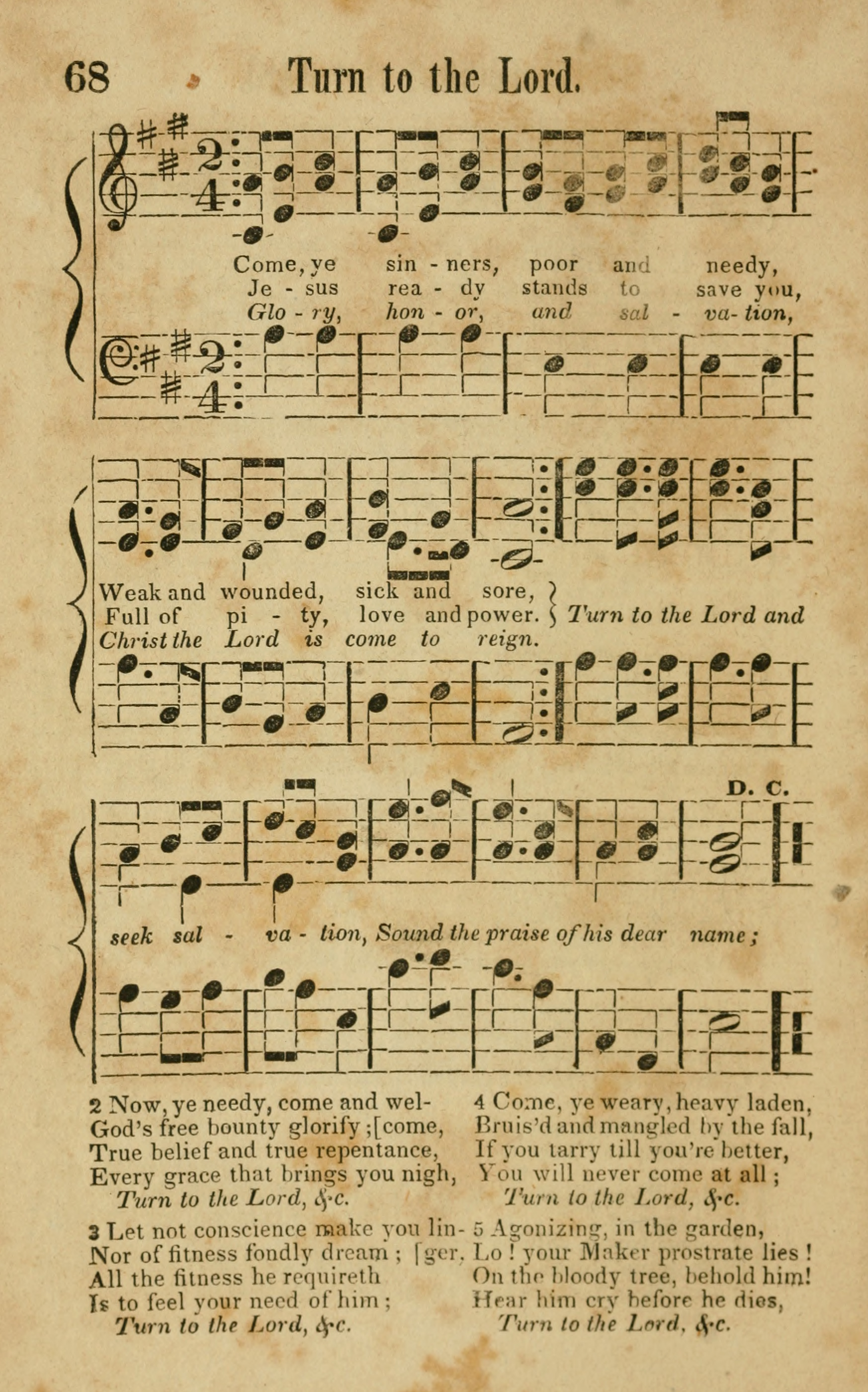 Fig. 12.   Songs of Canaan, or the Millennial Harmonist  (Boston: D. S. King and Saxton & Peirce, 1842). Melody in the soprano part.