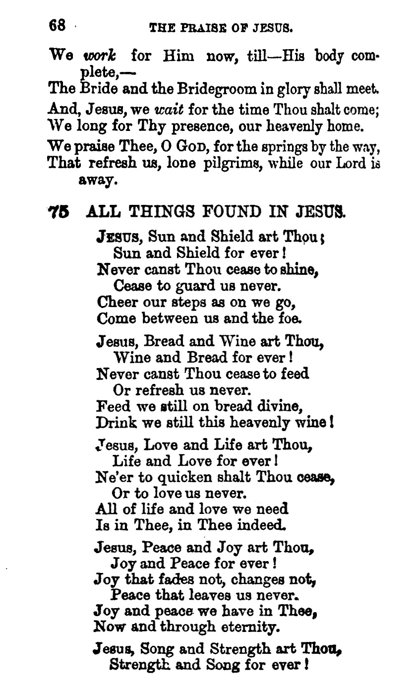 Fig. 1.  William Reid,  Praise of Jesus  (London: James Nisbet, 1863).