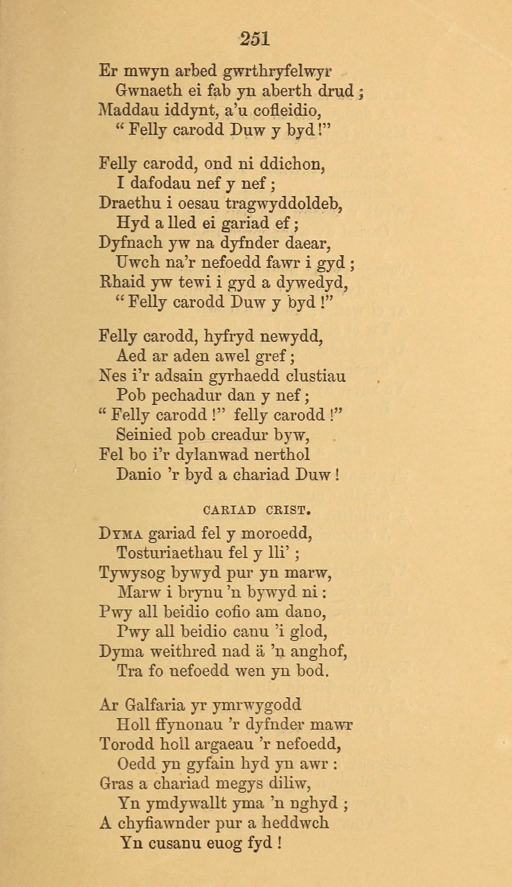 Fig. 2.  Gwilym Hiraethog,  Caniadau Hiraethog  (Dinbych: Thomas Gee, 1855).